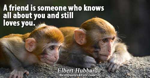 A friend is someone who knows all about you and still loves you.. Elbert Hubbard Famous