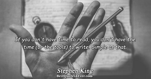 If you don't have time to read, you don't have the time (or the tools) to